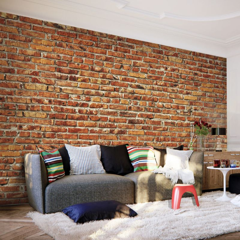 fototapeta ceglany mur. Black Bedroom Furniture Sets. Home Design Ideas