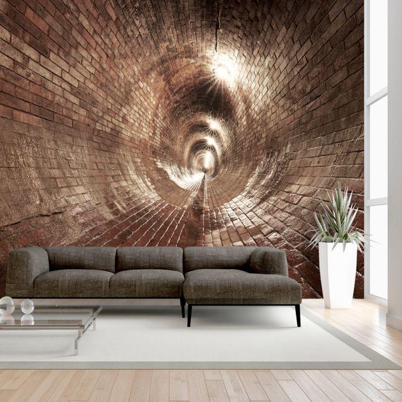 Fototapeta 3d tunel for Tappezzeria 3d