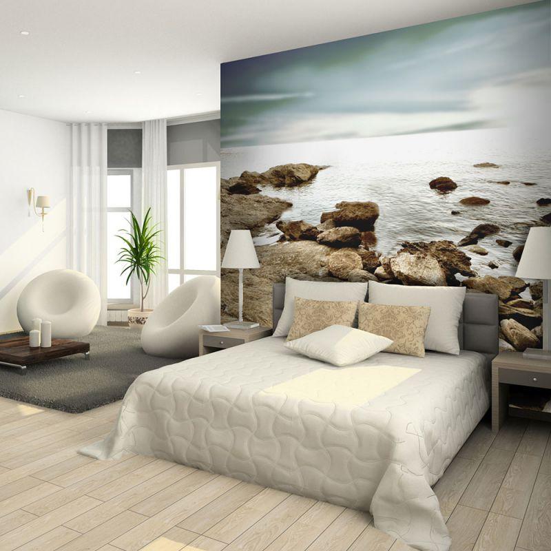 Fototapeta do sypialni skalista pla a for Amazon decoracion pared