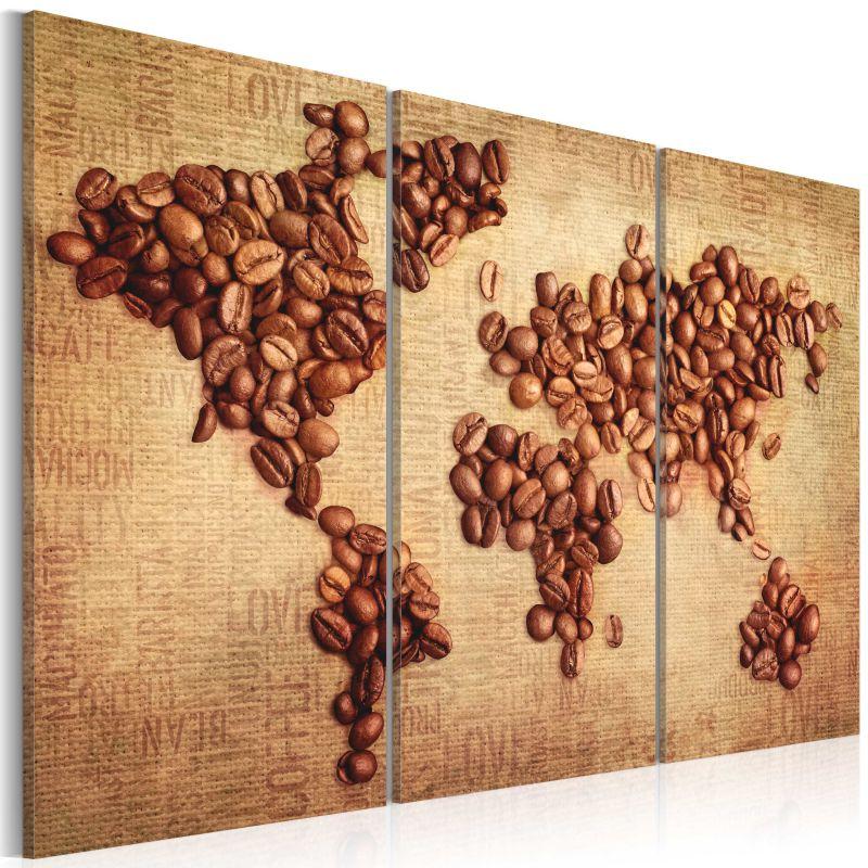 Obraz Do Kuchni Kawy świata Tryptyk
