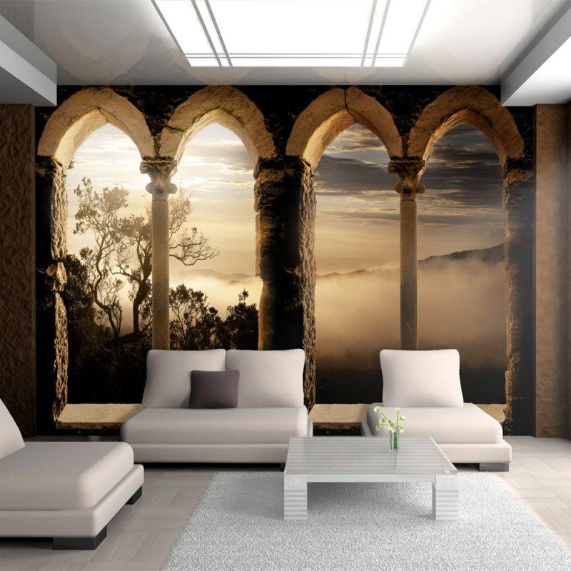 Fototapeta 3d klasztor w g rach - 3d wandbilder wohnzimmer ...