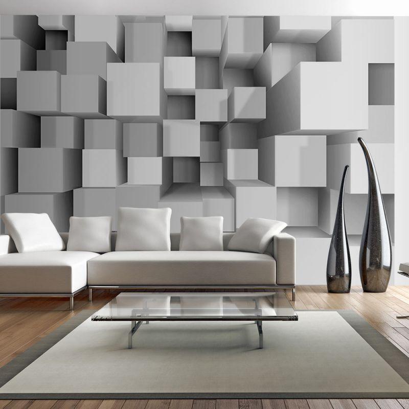 fototapeta 3d geometryczne puzzle. Black Bedroom Furniture Sets. Home Design Ideas