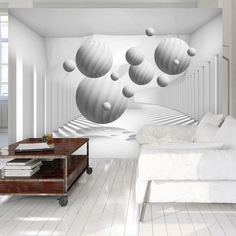 fototapeta 3d kule w bieli. Black Bedroom Furniture Sets. Home Design Ideas