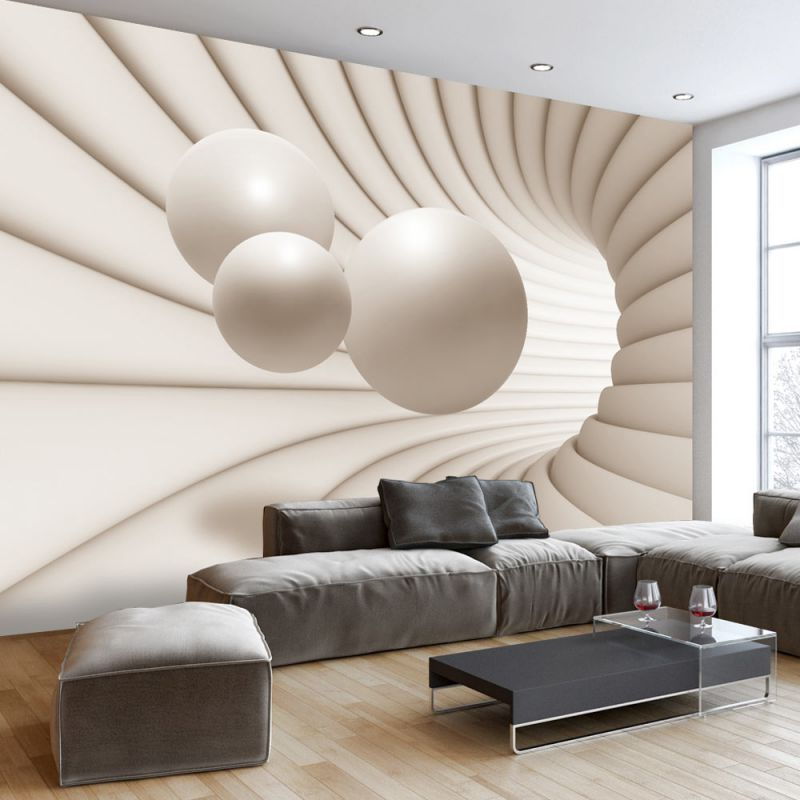 fototapeta 3d kule w tunelu. Black Bedroom Furniture Sets. Home Design Ideas