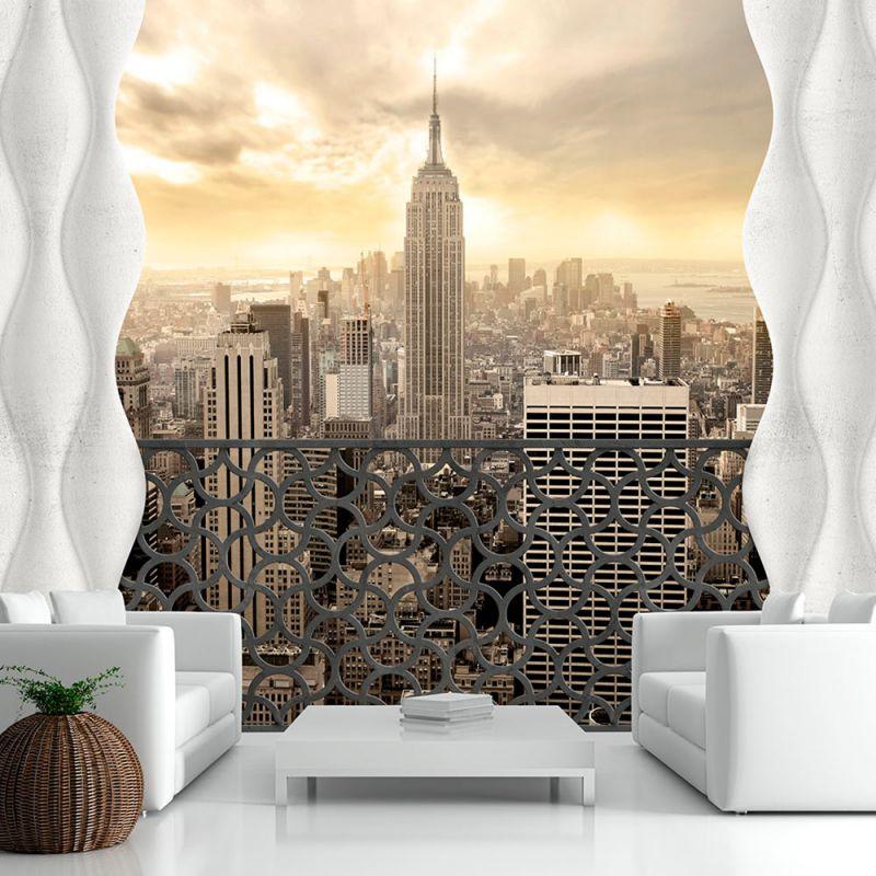 Fototapeta 3d widok nowego jorku for 3d wallpaper for living room in dubai