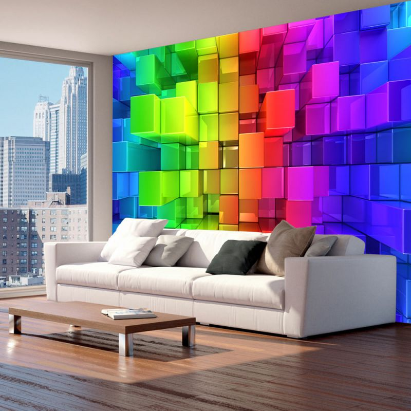 fototapeta 3d kolorowa uk adanka. Black Bedroom Furniture Sets. Home Design Ideas