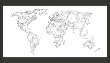 Fototapeta - Map of the World - white solids