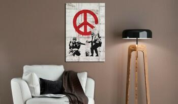 Obraz - Soldiers Painting Peace by Banksy