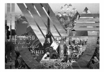 Fototapeta - The world ... (black and white)