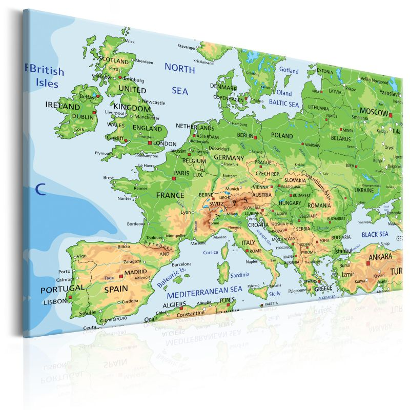 Obraz Mapa Europy