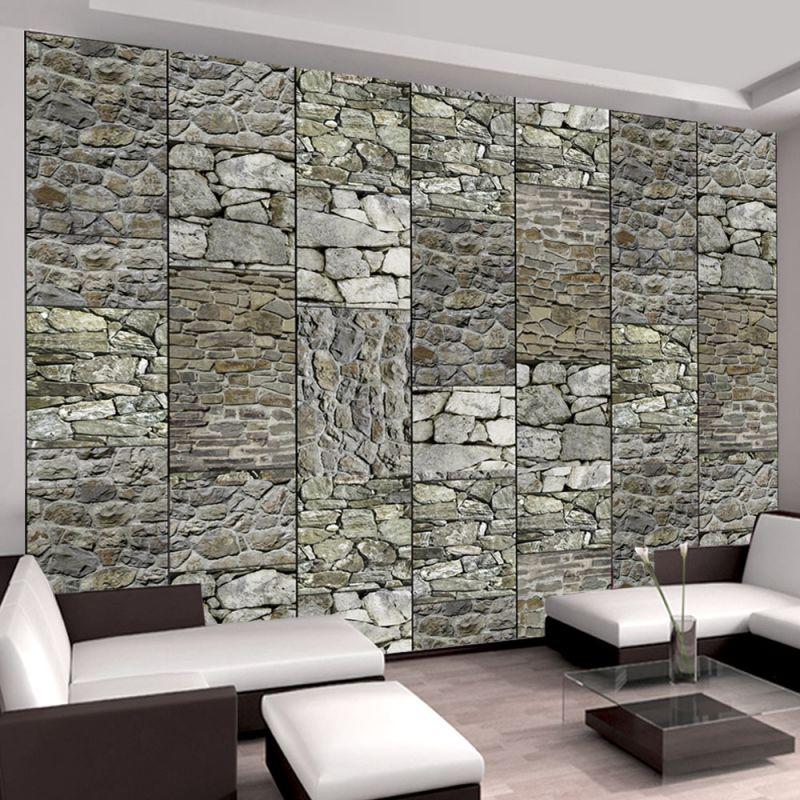 Tapeta Szare Kamienie Na ścianie